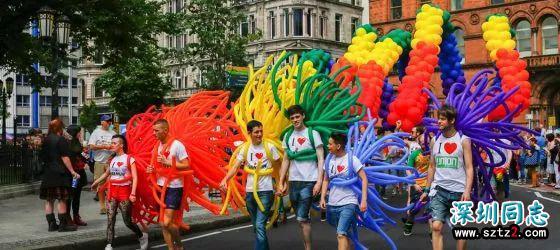 彩虹色的同性恋自豪月,英国Gay Pride游行提前了解一下